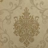 Le papier peint à la maison de PVC de décor a profondément gravé en relief