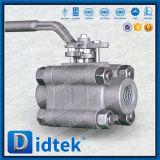 Didtek A105 ha forgiato l'acciaio valvola a sfera filettata femmina delle 3 parti