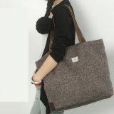 Fördernde kundenspezifische Firmenzeichen gedruckte Baumwollsegeltuch-Einkaufen-Handtaschen (6526)
