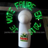 최신 인기 상품 인쇄되는 로고를 가진 주문 LED 메시지 손 팬 (3509)