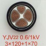 изолированный XLPE медный силовой кабель проводника 0.6/1kv