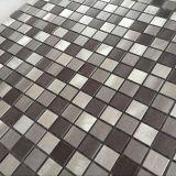 Mattonelle di mosaico spazzolate naturali dell'acciaio inossidabile di Backsplash della cucina autoadesiva poco costosa di prezzi