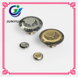 Le denim gravé en métal de bouton de jeans boutonne des boutons en métal pour le vêtement