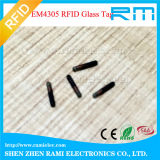 生物ガラスEm4305/Ntag216 RFIDの動物のマイクロチップNFC RFIDガラスの札