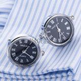 Cadeau de mariage réel de tiges de manchette de montre de mouvement de bouton de manchette d'horloge de vente chaude de VAGULA Gemelos 628