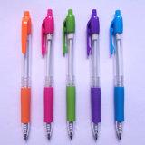 Crayon lecteur de bille transparent en plastique de type neuf avec le logo d'impression (P3022A)