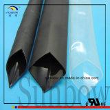 1/4 da '' de tubulação Semi rígida adesiva preta do Shrink do calor do Polyolefin do forro identificação
