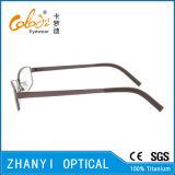 Bunter leichter Voll-Rahmen Titanbrille Eyewear optische Glas-Rahmen (9114)