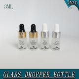 mini branco do frasco do conta-gotas do perfume do vidro 3ml geado