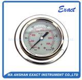 Olio - calibro Manometro-Industriale d'acciaio Misurare-Inossidabile riempito di pressione con la flangia anteriore