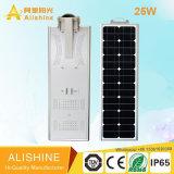 リチウムイオン電池統合されたLEDの太陽街灯25W