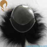 남자를 위한 인도 Remy 사람의 모발 레이스 정면 머리 시스템
