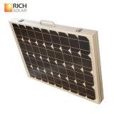 складывая панель солнечных батарей 100W для располагаться лагерем с кабелем 5m