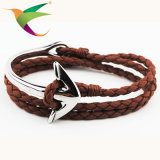 Anker-Retro Hand-Woven Seil-Handleder-Armband-Schmucksachen der Form-Stlb-17011001