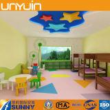 L'étage/vinyle de jardin d'enfants de PVC badine l'étage/étage pur de couleur
