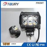 18W de montaje empotrado CREE LED luz auto del trabajo de conducción del camino de luz