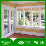 Окно деревянного двойника печатание перехода стеклянное алюминиевое
