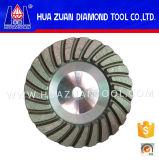 Roda de moedura côncava do copo do diamante da única fileira de Huazuan 100mm