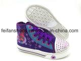 Los zapatos más nuevos del ocio de los zapatos de lona de la inyección de los niños modificados para requisitos particulares (FFHH1230-06)
