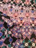 Tejido 100d Koshibo tela de poliéster de impresión para las mujeres vestido y blusa
