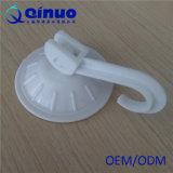 copo plástico da sução do vácuo do branco de 55mm com o gancho para o banheiro