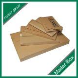 Caja de embalaje marrón de cartón corrugado