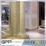 Мраморный камень высекая белую римскую колонку для домашнего украшения