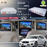 Коробка для подъема 2014-2016 Infiniti Q50/Q50L/Q60 с соединением зеркала, экран поверхности стыка Android навигации GPS видео- бросания, WiFi
