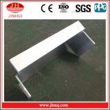 Ángulos de aluminio de la ingeniería de la pared de cortina con revestimiento igual de la pared de las piernas