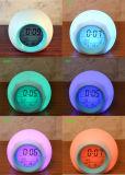 Historieta de Lounged del reloj de alarma del contraluz de siete colores