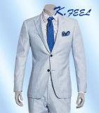 Juego azul claro al por mayor de la boda del novio de la mezcla de las lanas para los hombres