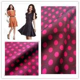 100% Polyester Stoff, Stretch Satin Chiffon DOT für Kleidungsstück gedruckt