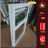 Padrão australiano UPVC Windows vitrificado dobro, toldo Windows do PVC