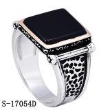 Juwelen 925 van de manier de Zilveren Ring van de Mens van de Steen van Yemen Scherpe