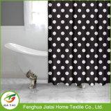 Contemporâneo de bolinhas cortina de chuveiro cortina de chuveiro personalizado