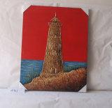 La atalaya de la pintura colgante de la decoración del mar de la lona casera natural encantadora de Tan