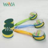 ハンドルが付いているDouble-Function洗浄のスポンジのブラシ掛け清浄のスポンジのブラシ