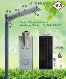 réverbère solaire de prix bas de bonne qualité de 15W DEL avec tous dans un modèle