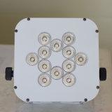 재충전용 12X 15W 무선 건전지 RGBWA UV LED 동위 빛
