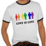 El amor es camisetas de Lgbt del amor