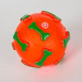 Weihnachtsknochen-Kugel-Form-Hundevinylspielzeug-Haustier-quietschendes Spielzeug