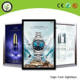 Освещенная контржурным светом рамка СИД кнопки алюминия высокого качества рекламирующ светлую коробку