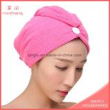 Крышка/полотенце Волос-Засыхания Microfiber качества с кнопкой
