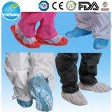 Desechable no tejido PP + CPE cubierta del zapato, cubiertas de calzado antideslizante