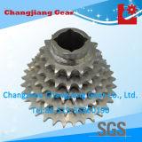 Ruota dentata multipla della rotella Chain delle azione standard dello zinco bianco del motociclo
