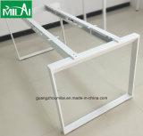 Mobília moderna elegante da tabela do escritório com pé de aço da mesa
