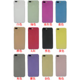 iPhone de cas de téléphone cellulaire 7 4.7 plus la caisse dure en cristal transparente ultra mince de 5.5 pp givrée par 0.3mm