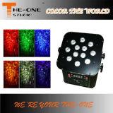 12PCS*17W電池無線LEDの平らな同価ライト