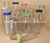 Bottiglia di vetro di frutta della bevanda trasparente senza piombo del succo