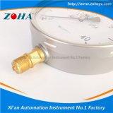 Calibre de pression liquide liquide remplaçable Ss 304 avec laiton interne